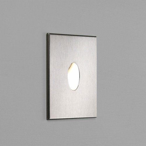 Tango 1W 3000K Square LED Wall Light in Brushed Stainless Steel IP65 Dimmable Astro 1175002