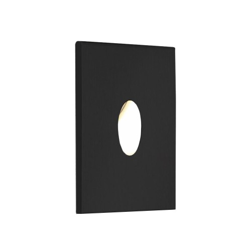 Tango 1W 3000K Square LED Wall Light in Textured Black IP65 rated Dimmable LED Astro 1175004