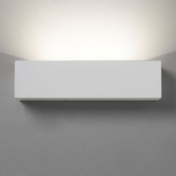 Parma 250 LED Plaster Wall Light using 9W LED 3000K 301lm, IP20 Paintable Uplighter, Astro 1187002