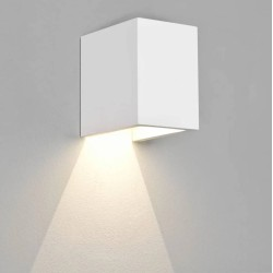 Parma 100 White Plaster LED Wall Light 4W 3000K for Up or Down Lighting, Paintable Astro 1187016