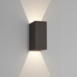 Oslo 160 LED Up-Down Wall Light in Textured Black IP65 2 x 3W 3000K for Exterior Lighting, Astro 1298002