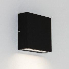 Elis Single LED Lamp in Textured Black 4.4W 3000K IP54 for Outdoor Wall / Ceiling, Astro 1331001