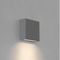Elis Single LED Lamp in Textured Grey 4.7W LED 3000K IP54 for Outdoor Wall / Ceiling, Astro 1331010