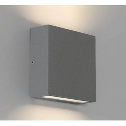 Elis Twin LED Lamp Textured Grey 8.2W 3000K IP54 for Up/Down Outdoor Wall / Ceiling Lighting, Astro 1331011