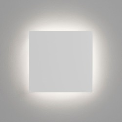 Eclipse Square 300 LED White Plaster Wall Light 3000K 15W Paintable IP20 Non-dimmable, Astro 1333001