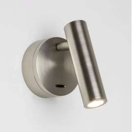 Enna Surface LED Switched Wall Light in Matt Nickel using Adjustable Head 4.5W 2700K LED, Astro 1058013