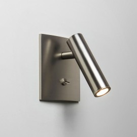 Enna Square Switched LED Wall Light in Matt Nickel using Adjustable Head 4.5W 2700K LED, Astro 1058018