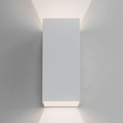 Oslo 160 LED Up-Down Wall Light in Textured White IP65 2 x 3W 3000K for Exterior Lighting, Astro 1298006