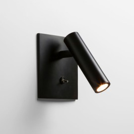 Enna Square Switched LED Wall Light in Matt Black using Adjustable Head 4.5W 2700K LED, Astro 1058024