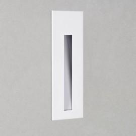 Borgo 55 Matt White Rectangular Recessed LED Wall Light 2W 2700K Dimmable IP20 Astro 1212021