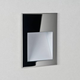 Borgo 90 2700K Polished Stainless Steel Square Recessed LED Wall Light 2W 68lm Dimmable IP20 Astro 1212024