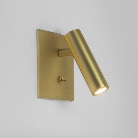 Enna Square Switched LED Wall Light in Matt Gold using Adjustable Head 4.5W 2700K LED, Astro 1058030