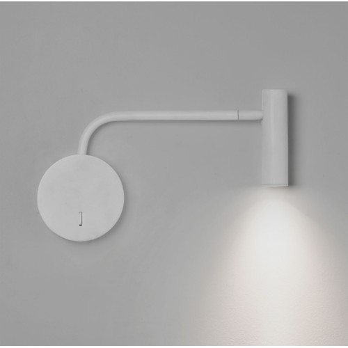 Enna Wall LED Lamp in Matt White with Adjustable Neck using 4.7W 2700K 104lm Switched Astro 1058032