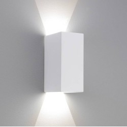 Parma 160 LED Plaster Wall Light using 6.4W LED 2700K, IP20 Paintable Up-down Light, Astro 1187014