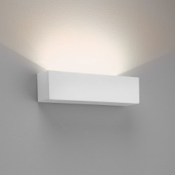 Parma 250 White Plaster LED Wall Light 8.7W 2700K for Wall Up-Lighting IP20 Paintable Astro 1187015