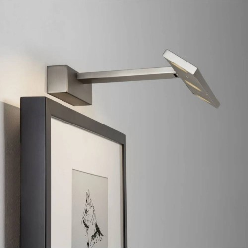 Vermeer 300 LED Picture Wall Light in Matt Nickel using a 3W 2700K Integrated LED IP20 rated, Astro  1188006 LED Picture Light