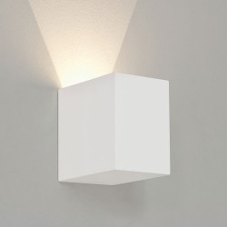 Parma 100 White Plaster LED Wall Light 3.9W 2700K for Up or Down Lighting, Paintable Astro 1187016