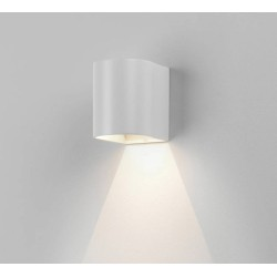 Dunbar 100 Textured White LED Wall Light 3.7W 3000K IP65 for Wall Up or Down Lighting, Astro 1384001