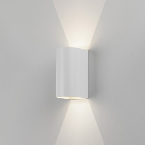 Dunbar 160 Textured White LED Wall Light 6.8W 3000K IP65 for Wall Up-Down Lighting, Astro 1384002