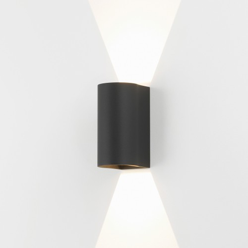 Dunbar 160 Textured Black LED Wall Light 6.8W 3000K IP65 for Wall Up-Down Lighting, Astro 1384004