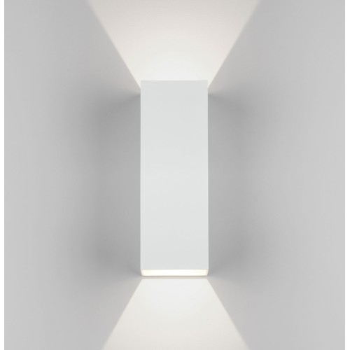 Oslo 255 LED Up-Down Wall Light in Textured White IP65 7.5W 3000K for Exterior Lighting, Astro 1298009