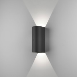 Dunbar 255 LED Textured Black Wall Light 7.5W 3000K IP65 for Wall Up-Down Lighting, Astro 1384005
