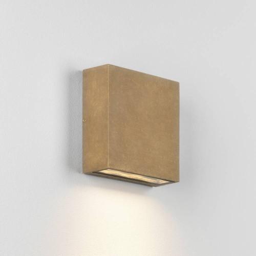 Elis Coastal Single LED Lamp in Coastal Brass 4.7W LED 3000K IP54 for Outdoor Wall Lighting, Astro 1331005