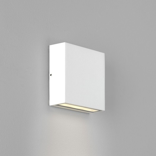 Elis Single LED Lamp in Textured White 4.7W 3000K IP54 for Outdoor Wall / Ceiling, Astro 1331008