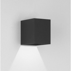 Kinzo 110 Textured Black Wall LED Lamp for Down-lighting 5.9W 2700K IP20 rated Dimmable Astro 1398001