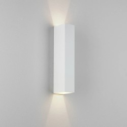 Kinzo 300 Textured White Wall LED Lamp for Up/Down Lighting 11.7W 2700K IP20 rated Dimmable Astro 1398010