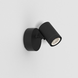 Bayville Single Wall LED Spotlight IP65 in Textured Black using 8.1W LED 3000K 490lm Dimmable, Astro 1401005