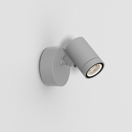 Bayville Single Wall LED Spotlight IP65 in Textured Grey using 8.1W LED 3000K 490lm Dimmable