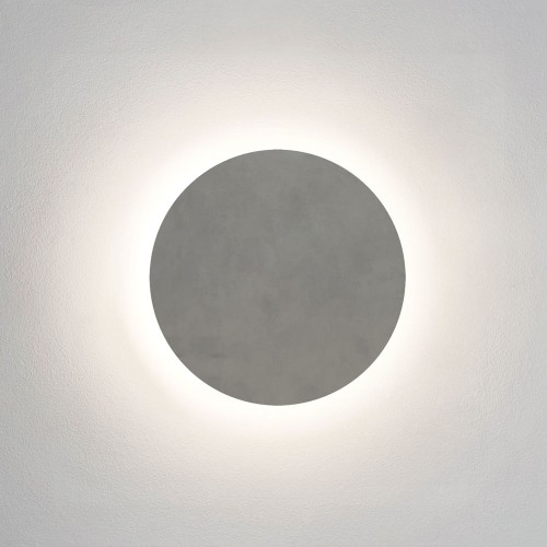 Eclipse Round 300 LED Concrete Coastal Wall Light 3000K 12.6W IP44 Non-dimmable, Astro 1333011