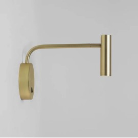 Enna Wall LED Lamp in Matt Gold with Adjustable Neck using 4.7W 2700K 104lm Switched Astro 1058105