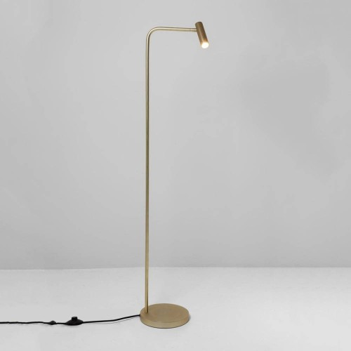 Enna Floor LED Lamp in Matt Gold Switched using 4.5W 2700K LED IP20 with 3m Cable, Astro 1058003