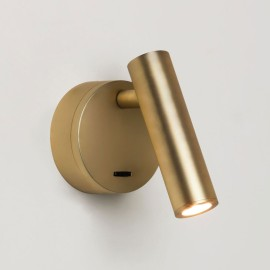 Enna Surface LED Switched Wall Light in Matt Gold using Adjustable Head 4.5W 2700K LED, Astro 1058108