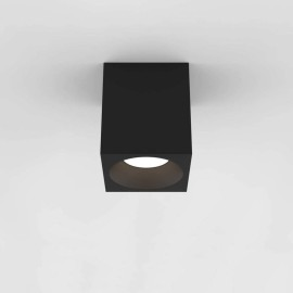 Kos Square 140 LED Textured Black Ceiling Spotlight IP65 rated c/w 11.9W 3000K LED, Astro 1326020
