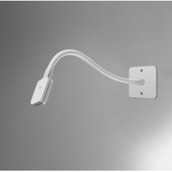 Artemide Skopos White 2W LED Wall Light with Flexible Arm and Dimmer by Ernesto Gismondi