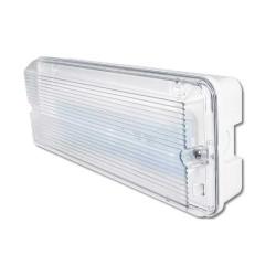 IP65 Slim LED Emergency Bulkhead 3h Maintained c/w 3.2W 6000K 150/100lm LED in White