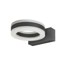 Ciclo IP54 LED Outdoor Wall Light 11W 480lm 3000K in Dark Grey, 140mm Diam Circular Design