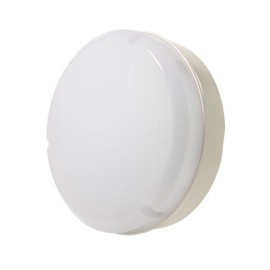 Mosi 290mm 14W LED Bulkhead Neutral White 4000K 1100lm IP65 in White and Opal Diffuser, Luceco LBM290W11S40