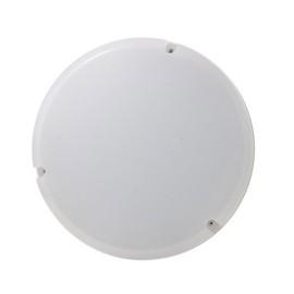 Mosi 290mm 16W LED Emergency Bulkhead Neutral White 4000K 1100lm IP65 in White, Luceco LBM290W11E40