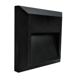 IP65 1.1W 4000K Slim Square LED Bricklight 38lm in Black for Exterior Surface Mounting