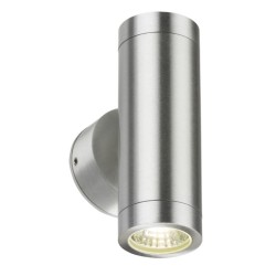 IP65 2 x 3W 3500K LED Up-and-Down Wall Light in Brushed Chrome, Non-dimmable LED Exterior/Interior Lamp