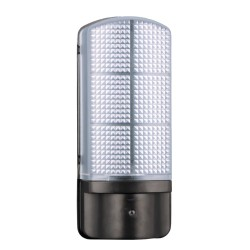 IP44 7W LED Outdoor Light 4000K 500lm with Day/Night Photocell in Black with Prismatic Diffuser