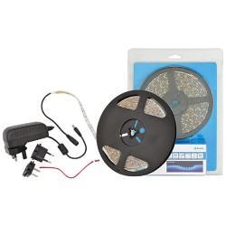 IP65 5m Self-Adhesive Flexible LED Strip Light Kit Warm White 3100K DIY LED Tape Single Color