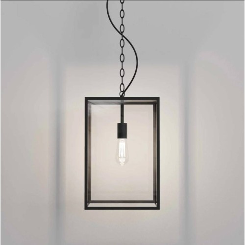 Homefield Pendant 450 in Black with Transparent Glass IP23 12W E27/ES LED lamp for Exterior Lighting, Astro 1095033