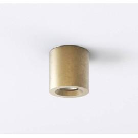 Kos Round Ceiling Light in Coastal Brass IP44, Coastal Recessed Spotlight using 1 x 6W max. GU10 LED Lamp, Astro 1326035