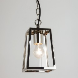 Calvi Pendant 215 in Polished Nickel with Clear Glass for Ceiling Lighting IP23 E27 max. 60W, Astro 1306004