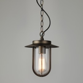 Montparnasse Bronze Pendant with Clear Glass for Exterior Lighting IP44 using 12W ES/E27 LED lamp, Astro 1096010